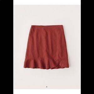 A&F ruffle hem mini skirt